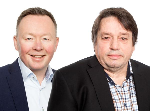 Olav A. Veum og Eilif Due.
