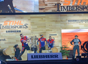 VM i Timbersports ble et forrykende show