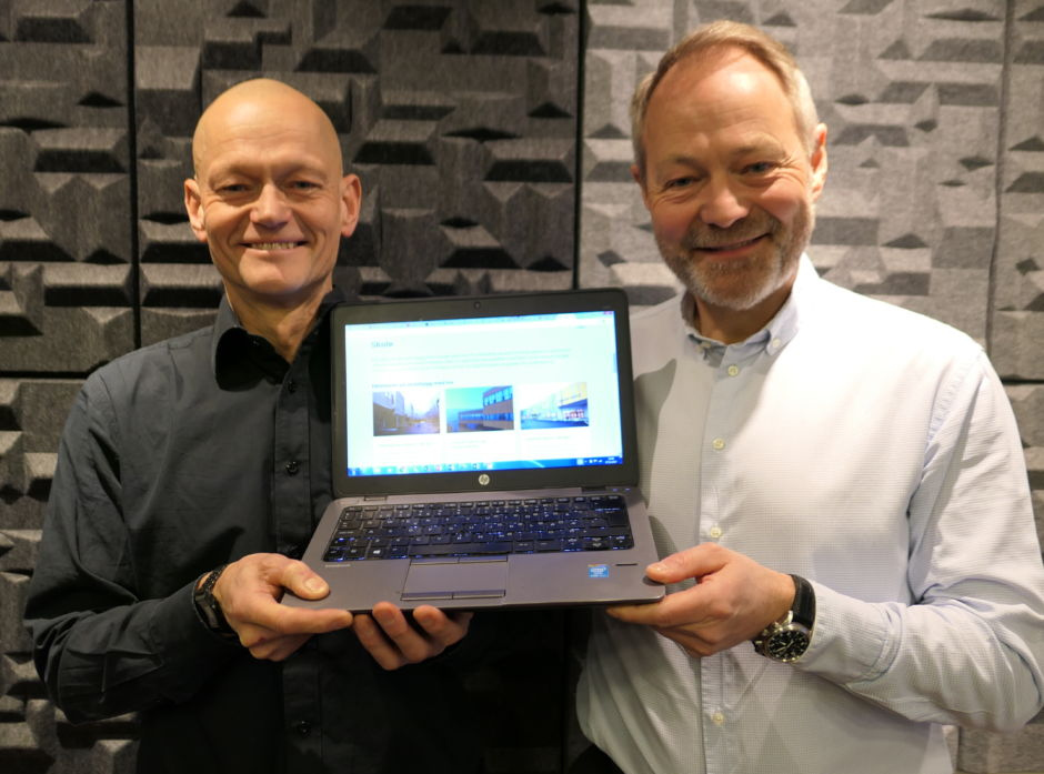 Treveilederen er en ny digital tjeneste for byggherrer og andre i den profesjonelle byggebransjen. Aasmund Bunkholt fra Trefokus (t.v.) og Arne Malonæs fra Bygg21 har samlet mye informasjon og inspirasjon.