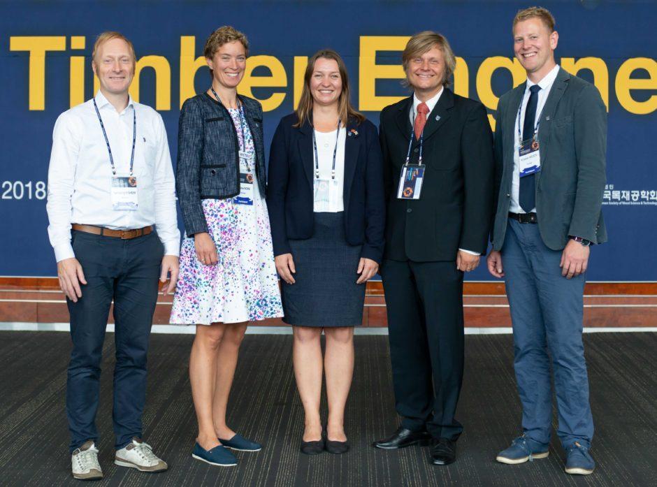 Den norske delegasjonen fra v: Sveinung Nesheim, Kristine Nore Elin Sagbråten, Anders Q. Nyrud og Nore Krister Moen. Foto: Knut Werner Lindeberg Alsén