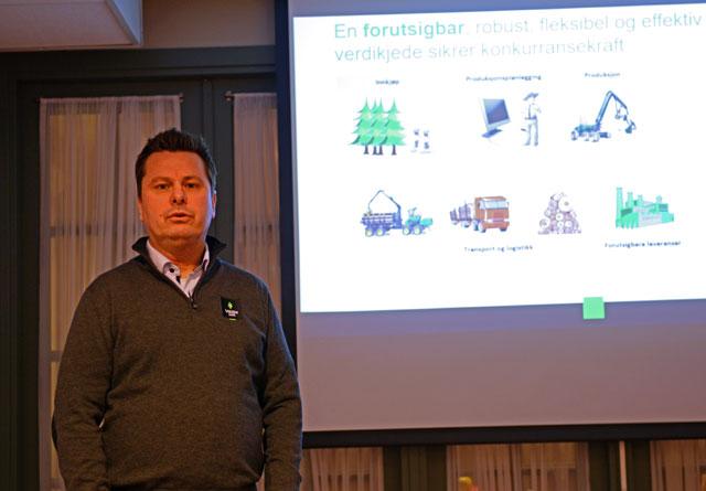 Tor Henrik Kristiansen i Viken Skog ønsker seg en forutsigbar, robust, fleksibel og effektiv verdikjede som sikrer konkurransekraft.
