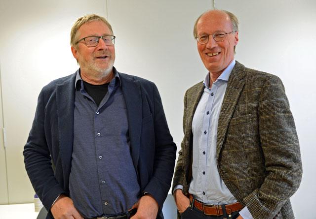 Terje Uggen (t.h.) blir styreleder i Glommen Mjøsen Skog, mens Ole Th. Holth blir nestleder.