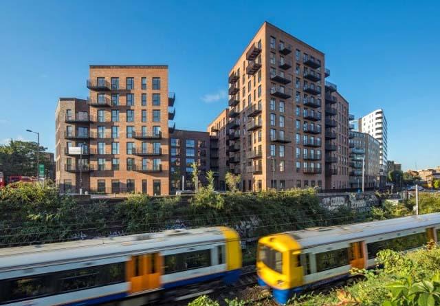 10 etasjes bygg i tre, Dalston Works, London, UK.