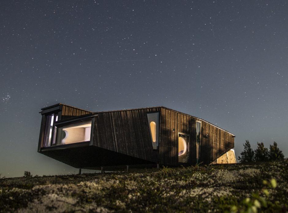 UFO-hytta i Hessdalen. Foto: Jonas Olsen