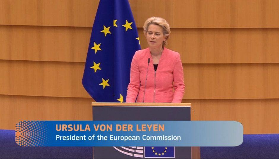 EU-kommisjonen leder Ursula von der Leyen. Foto EU-kommisjonen