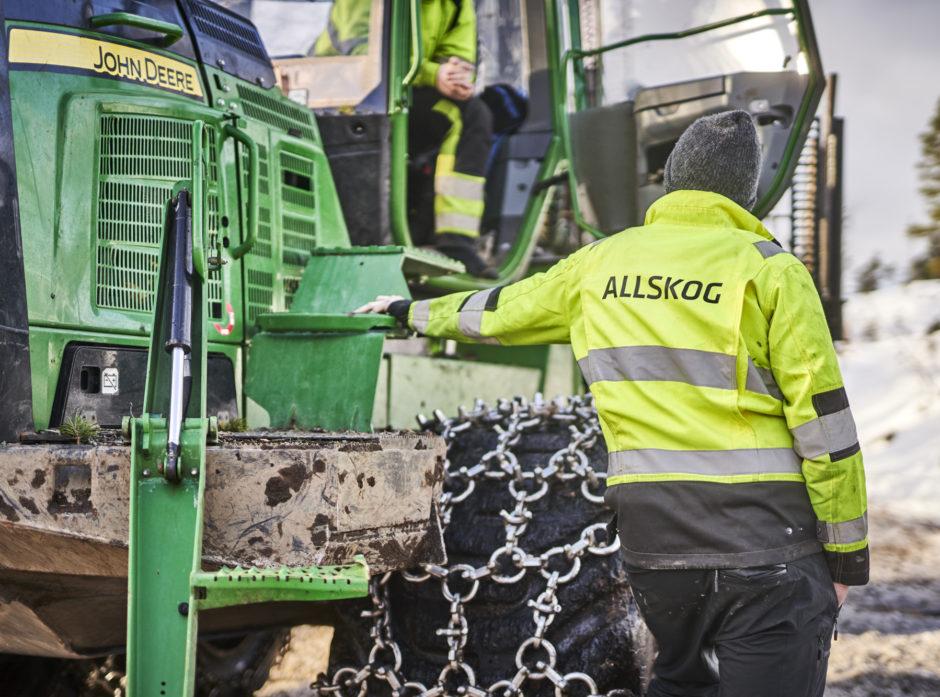 ALLSKOG leverte 863 000 kubikk tømmer til industrien i fjor.